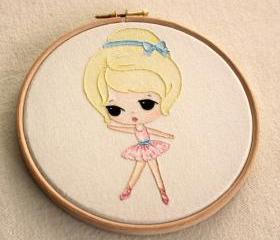 Embroidered Ballerina pdf Pattern
