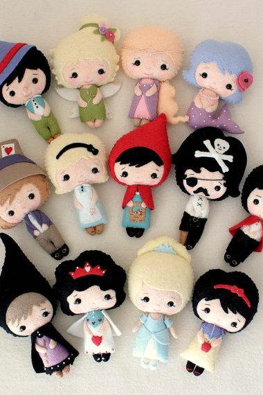 Fairy Tale Dolls pdf Patterns - You Choose Four